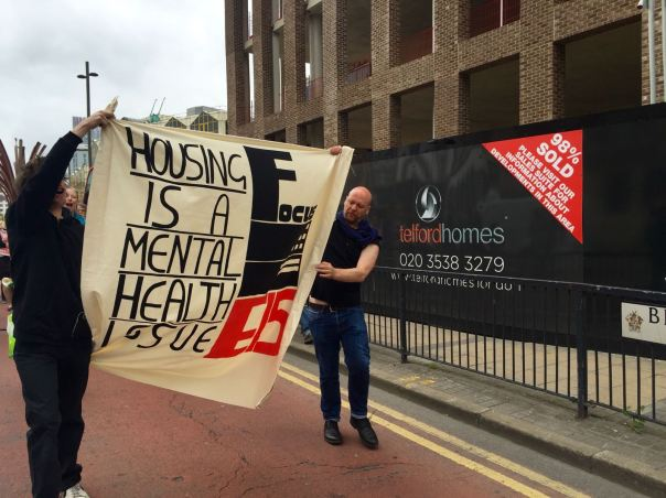 Community solidarity for Focus E15 action - Housing is a mental health issue!